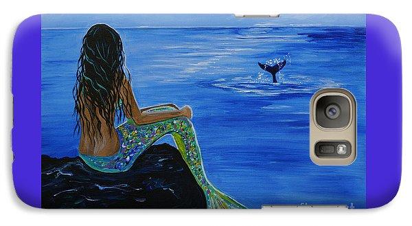 Whale Watcher Galaxy Case by Leslie Allen