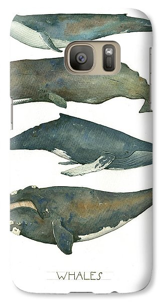 Whales Poster Galaxy S7 Case