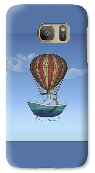 Galaxy Case featuring the digital art Seek Sanctuary by Galen Valle