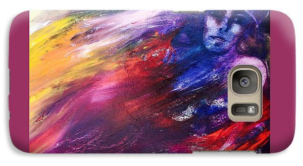 Galaxy Case featuring the painting What Hides  by Marat Essex
