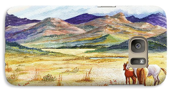 Galaxy Case featuring the painting What Lies Beyond by Marilyn Smith