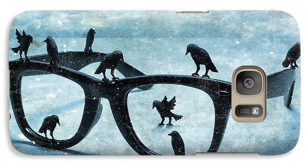 Galaxy Case featuring the photograph What The Crows Found by Jeff  Gettis