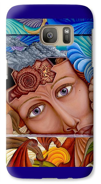 Galaxy Case featuring the painting What The Mind Feels by Karen Musick