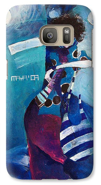 Galaxy Case featuring the painting What Time Is It by Maya Manolova