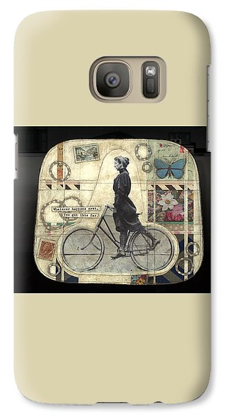 Galaxy Case featuring the painting Whatever Happens by Casey Rasmussen White