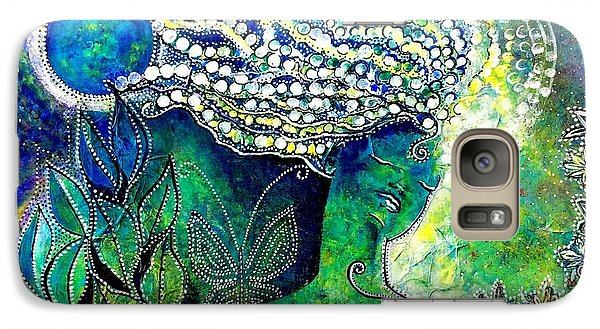 Galaxy Case featuring the painting Whatever Happens, Extract Pearls by Julie  Hoyle