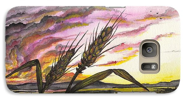 Galaxy Case featuring the painting Wheat Field by Darren Cannell