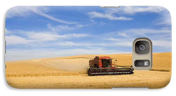 Rural Scenes Galaxy S7 Case - Wheat Harvest by Mike  Dawson