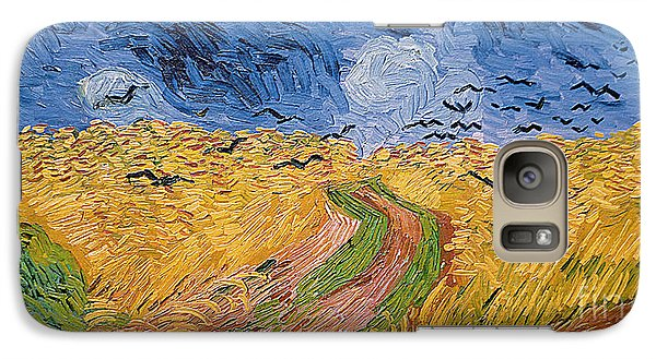 Wheatfield With Crows Galaxy Case by Vincent van Gogh