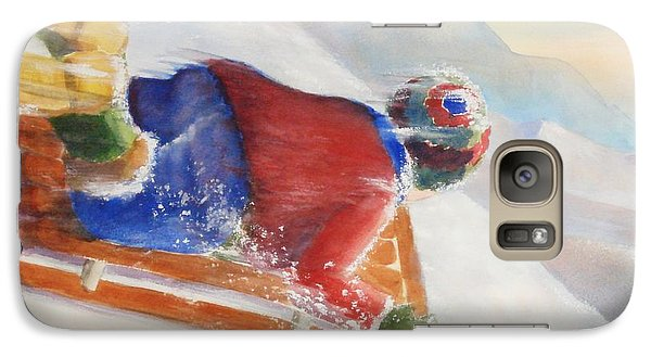 Galaxy Case featuring the painting Wheee by Marilyn Jacobson