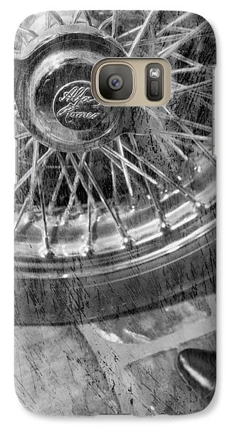 Galaxy Case featuring the photograph Wheel Of An Old Car. by Andrey  Godyaykin