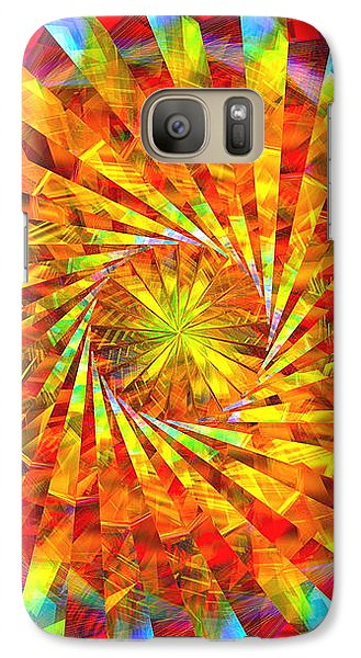 Galaxy Case featuring the digital art Wheel Of Light by Andreas Thust