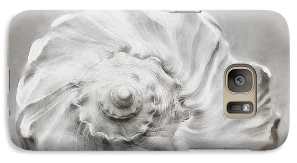 Galaxy Case featuring the photograph Whelk In Black And White by Benanne Stiens