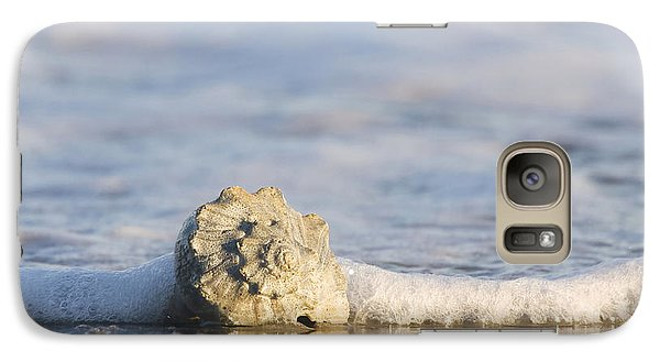 Galaxy Case featuring the photograph Whelk In Surf Two by Bob Decker