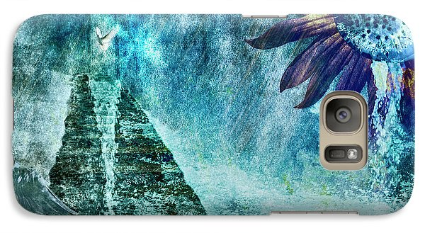 Galaxy Case featuring the photograph When Heaven Cries by Yvonne Emerson AKA RavenSoul