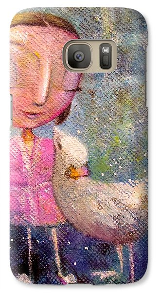 Galaxy Case featuring the painting When I'm With You by Eleatta Diver