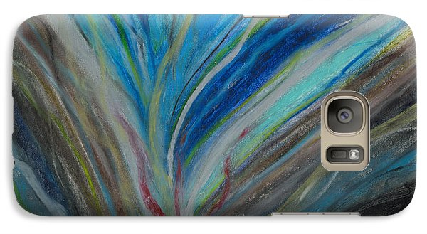 Galaxy Case featuring the pastel When The Feelings Are Gone by Ania M Milo