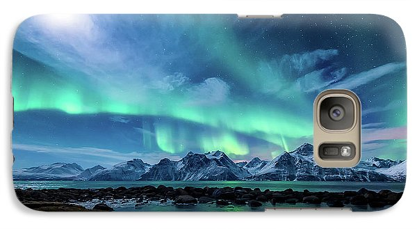 Landscape Galaxy S7 Case - When The Moon Shines by Tor-Ivar Naess