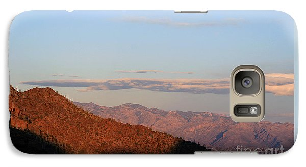 Galaxy Case featuring the photograph When The Mountains Turn Pink... by Paula Guttilla