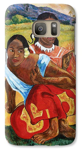 Galaxy Case featuring the painting When Will You Marry? by Tom Roderick