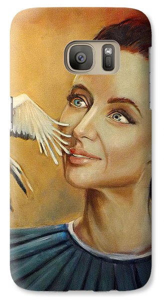 Galaxy Case featuring the painting When You See A Bird by Irena Mohr
