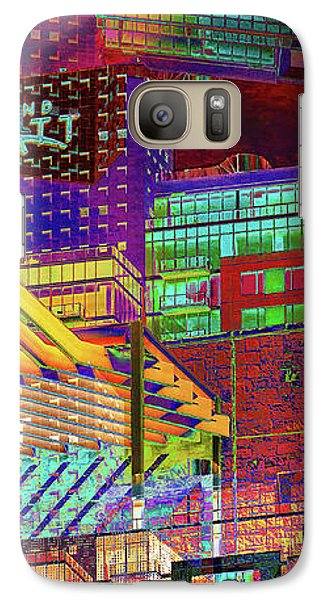 Galaxy Case featuring the digital art Where City Shadows Fall by Wendy J St Christopher