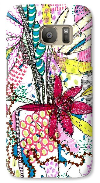 Galaxy Case featuring the mixed media Where Did You Put My Cup? by Lisa Noneman