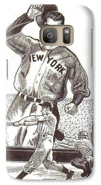Galaxy Case featuring the drawing Where Have You Gone Joe Dimaggio  by Ray Tapajna