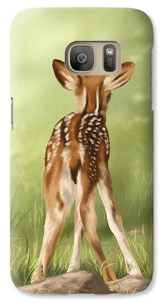 Galaxy Case featuring the painting Where Is My Mom? by Veronica Minozzi