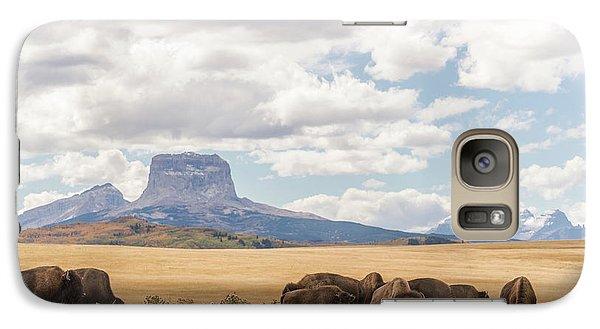 Where The Buffalo Roam Galaxy S7 Case by Alex Lapidus