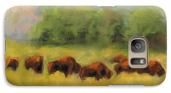 Galaxy Case featuring the painting Where The Buffalo Roam by Frances Marino