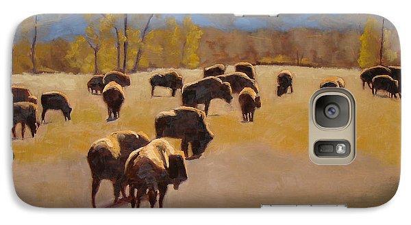 Where The Buffalo Roam Galaxy S7 Case by Tate Hamilton