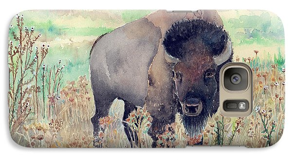 Where The Buffalo Roams Galaxy Case by Arline Wagner