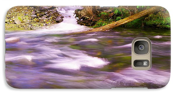 Galaxy Case featuring the photograph Where The Stream Meets The River by Jeff Swan