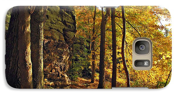 Galaxy Case featuring the photograph Whipp's Ledges In Autumn by Joan  Minchak