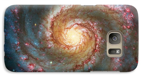 Whirlpool Galaxy  Galaxy S7 Case by Jennifer Rondinelli Reilly - Fine Art Photography