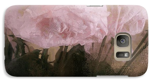 Galaxy Case featuring the digital art Whisper Of Pink Peonies by Alexis Rotella
