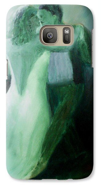 Galaxy Case featuring the painting Whispered Passion by Keith Thue