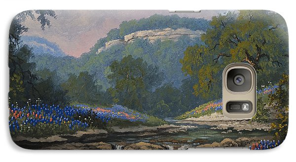 Galaxy Case featuring the painting Whispering Creek by Kyle Wood