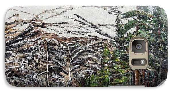 Galaxy Case featuring the painting Whispering Pines by Marilyn  McNish