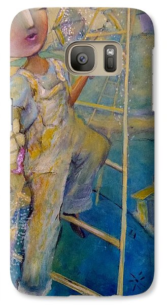 Galaxy Case featuring the painting Whistle While You Work by Eleatta Diver