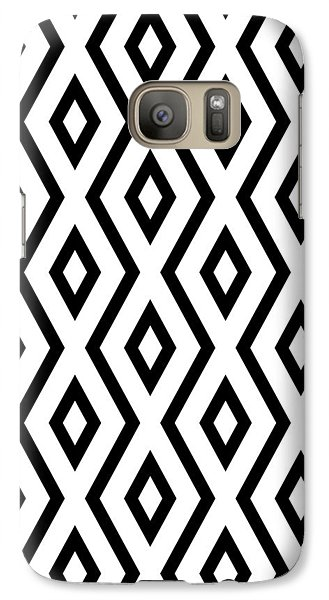 White And Black Pattern Galaxy S7 Case