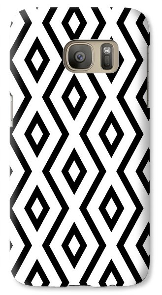 White And Black Pattern Galaxy S7 Case by Christina Rollo