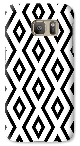 Beach Galaxy S7 Case - White And Black Pattern by Christina Rollo
