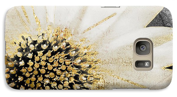 White And Gold Daisy Galaxy Case by Mindy Sommers