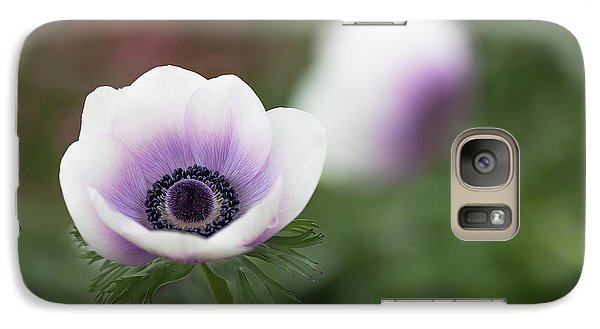 Galaxy Case featuring the photograph White And Purple by Rebecca Cozart