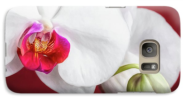 Orchid Galaxy S7 Case - White And Red Orchids by Tom Mc Nemar