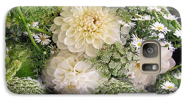 Galaxy Case featuring the photograph White Anniversary Bouquet by Geraldine Alexander