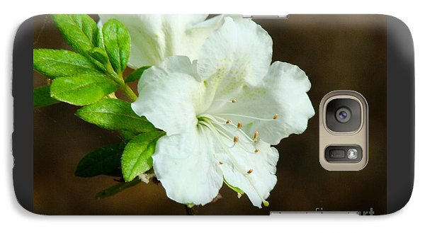 Galaxy Case featuring the photograph White Azalea  by Rand Herron