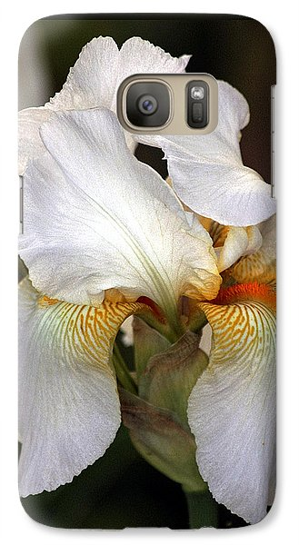 Galaxy Case featuring the photograph White Bearded Iris by Sheila Brown